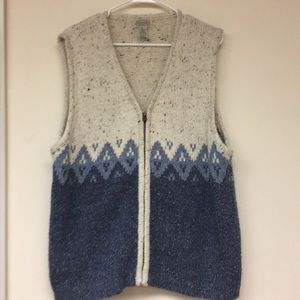 St John's Bay Zip Up Sweater Vest Sz 2X